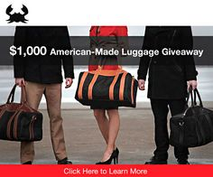 Win this $1000 Luggage Giveaway from Blue Claw Co.! - click here to discover how - http://www.realmenrealstyle.com/blue-claw-co-giveaway/