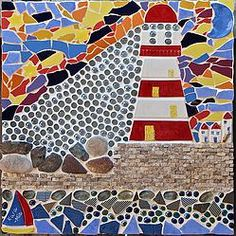 """MY LATEST PIECE: """"COMING HOME"""" - hope you like this new piece and the story it tells. Mosaic Pots, Coming Home, Wall Plaques, Faeries, Kara, Original Art, Kids Rugs, Mosaics, Crafts"""