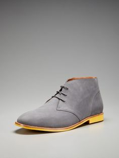 Vanishing Elephant Cerulean Nubuck Chukka Boots= CLEAN