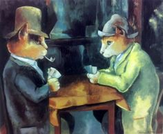 """The Card Players (Paul Cézanne)"" par Susan Herbert"