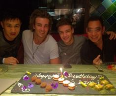 Early birthday dinner for Liam