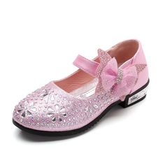 Pink Flower Girl Party Shoes