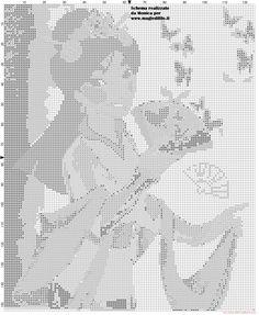 Mulan cross stitch pattern (symbols)