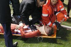 No entanto, atacante espanhol já recobrou consciência após o susto