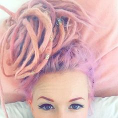 Princess Particles | Dreads | Georgina Rose | Pink hair | Pink dreads | Hair |