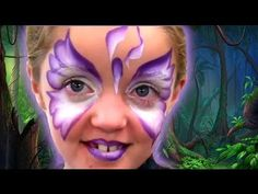 IRIS BUTTERFLY ONE STROKE FACE PAINT TUTORIAL