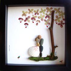 Gift Pebble Art-Unique Engagement Gift-Personalized Hochzeit