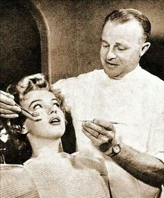 Even Marilyn Monroe had to go to the dentist! Those beautiful teeth didn't happen by accident. #dentistry