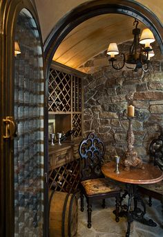 For layout only -- Wine Cellar Photos Old World Tuscan Design, Pictures, Remodel, Decor and Ideas - page 7 Tuscan Design, Tuscan Style, Rustic Style, Architecture Unique, Home Wine Cellars, Wine Cellar Design, Wine Design, Tuscan Decorating, Interior Decorating
