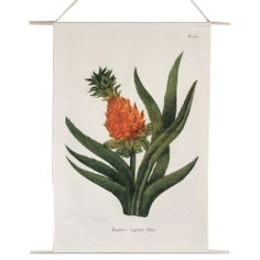 Pineapple canvas wall hanging by A La Mode Studio Vintage Colors, Vintage Style, Pineapple Design, Wedding Gifts, Vintage Fashion, Tropical, Studio, Canvas, Illustration