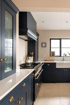 Open Plan Kitchen Diner, Open Plan Kitchen Living Room, Kitchen Room Design, Modern Kitchen Design, Interior Design Kitchen, Diy Kitchen, Kitchen Decor, Bespoke Kitchens, Luxury Kitchens