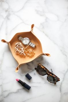 DIY Leather Catchall #theeverygirl