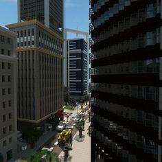 [Minecraft] Chelsea suite's Hotel by Yazur on deviantART Minecraft City Buildings, Minecraft Banners, Minecraft Plans, All Minecraft, Minecraft Construction, Minecraft Tutorial, Minecraft Architecture, Minecraft Creations, Minecraft Designs