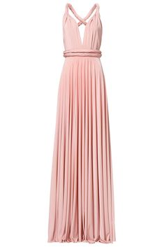 b2aa60a7a42 TwoBirds Pink Jersey Convertible Wrap Women s Size A Gown Maxi Dress  310-   781