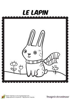 Un petit ours avec une charpe et une glace dans la main - Le petit lapin s est cache dans le jardin ...
