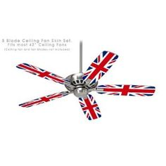 Ceiling Fan Skin Kit (fits most 42inch fans) - Union Jack 02 - (Fan and fan blades NOT INCLUDED) by wallthat