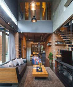 Look in any urban or downtown area, and you'll find amazing residential loft spaces. Loft apartments are usually located in … Loft Interior Design, Loft Design, Küchen Design, Modern House Design, Interior Architecture, Design Ideas, Interior Decorating, Loft Interiors, Design Interiors