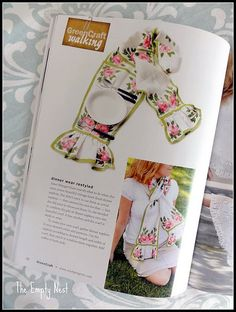 My refashion got published! I fashioned this lovely scarf from some vintage linen placemats..SOLD!!  I find the best stuff at my Salvation Army!