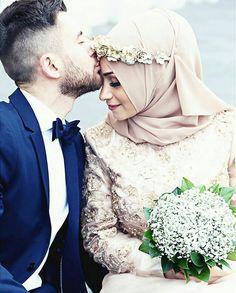 Halal Love ♡ ❤ ♡ Muslim Couple ♡ ❤ ♡ Marriage In Islam ♡ ❤ ♡ Couples Musulmans, Cute Muslim Couples, Romantic Couples, Wedding Couples, Wedding Bride, Dream Wedding, Romantic Weddings, Wedding Events, Hijab Wedding