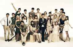 JYP artists pose for a picture. This is for 'JYP Nation in Japan' #japan #korean #asian