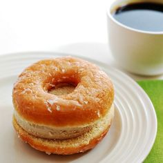 Coffee and donuts ice cream sandwiches — your wish for an excuse to eat ice cream for breakfast just came true!
