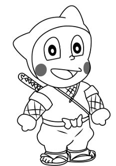 Ninja Hattori is a cartoon series originated from Japan. Kids love Ninja Hattori, they usually draw Ninja Hattori pencil drawing, sketch, and portrait.