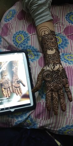 Henna Hand Designs, Dulhan Mehndi Designs, Mehndi Designs Finger, Khafif Mehndi Design, Floral Henna Designs, Mehndi Designs Book, Simple Arabic Mehndi Designs, Mehndi Designs For Beginners, Mehndi Designs For Girls