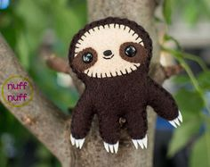 Felt Sloth - Pocket Plush toy