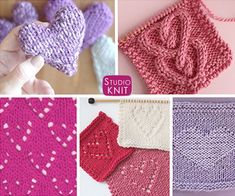Get 5 Popular Knit Heart Patterns by Studio Knit with free knitting patterns and video tutorials. Get 5 Popular Knit Heart Patterns by Studio Knit with free knitting patterns and video tutorials. Knitted Heart Pattern, Cable Knitting Patterns, Knitting Charts, Easy Knitting, Knitting Stitches, Crochet Patterns, Crafty Ideas, Stitch Patterns, Hat Patterns