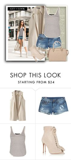 """Get the Look"" by nerma10 ❤ liked on Polyvore featuring Chicnova Fashion, True Religion, rag & bone, Gianvito Rossi and MICHAEL Michael Kors"