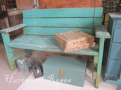 Make a bench from old wood... hmmm