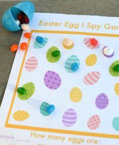 Easter I Spy game for kids!