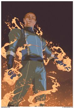Human Torch by Dave Rapoza
