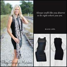 """Walk this Way"" super sexy little black dress. www.ShopSimplyMe.com"