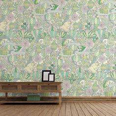 #yokofurusho #vinyl #wallpaper #interior #kidsroom #kids #children #illustration #thewallery #animal #forest #panda   http://thewallery.com/shop/the-animal-forest-wallpaper-mural-design-yoko-furusho/
