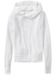 Athleta Womens Sugar Rush Hoodie Size 2X Plus - White | 59% OFF