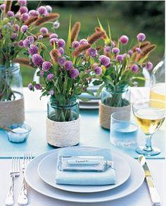 Martha Stewart Mason Jars | Wildflowers in Mason Jars Wedding Centerpieces | Budget Brides Guide ...