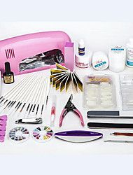 professionele diy nail art manicure set tools set 9W geleid uv-lamp spijker set met namaak nagel tips