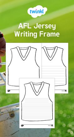 68477507ba3 Use this activity sheet to have children write stories or information about  the Australian Football League