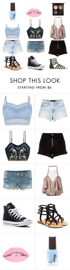 """OTB 1"" by nicolean1029 on Polyvore featuring Lipsy, Alexander Wang, H&M, River Island, True Religion, Balmain, Converse, Mystique and MAC Cosmetics"