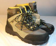 Womens Drew Glacier Boots Waterproof Gray Nubuck Leather Diabetic Orthotic 10WW #Drew #SnowWinterBoots