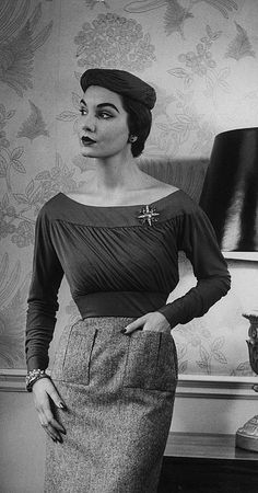 Digby Morton Jersey Top and Tweed Skirt 1952