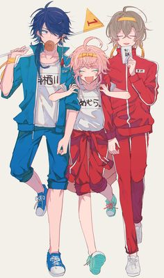"""りもこ on Twitter: """"ディビジョン対抗運動会してほしい…というかジャージ着てほしい…というだけ…… """" Cute Anime Boy, Anime Art Girl, Anime Guys, Cool Anime Pictures, Anime Group, Fanart, Identity Art, Rap Battle, Manga Comics"""