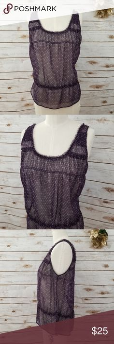 Bisou Bisou Misses Black Patch Stripe Sleeveless Top S or XL FREE Shpg NWTA