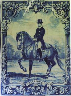 Azulejo panel of the master Manoel de Oliveira, from the book, Art of the Lusitano