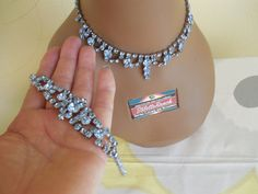 Gorgeous and Perfect Vintage Rhinestone Set is by stilettojewels, $54.00