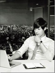 Kim Hyun Joong.  TFS Korea weibo updates. So handsome ^_^