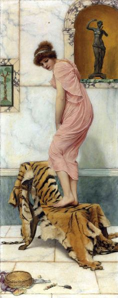 The Athenaeum - A Mouse in the Work Basket (John William Godward - )