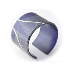 """Recycled Resin Cuff  Recycled resin. Made in Canada.  2 1/2"""" across, fits most.  Price: $35.00"""