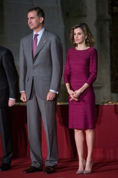(L-R) King Felipe VI of Spain and Queen Letizia of Spain attend 'National Culture Awards' at San Antolin Cathedral on June 1, 2016 in Palencia, Spain.